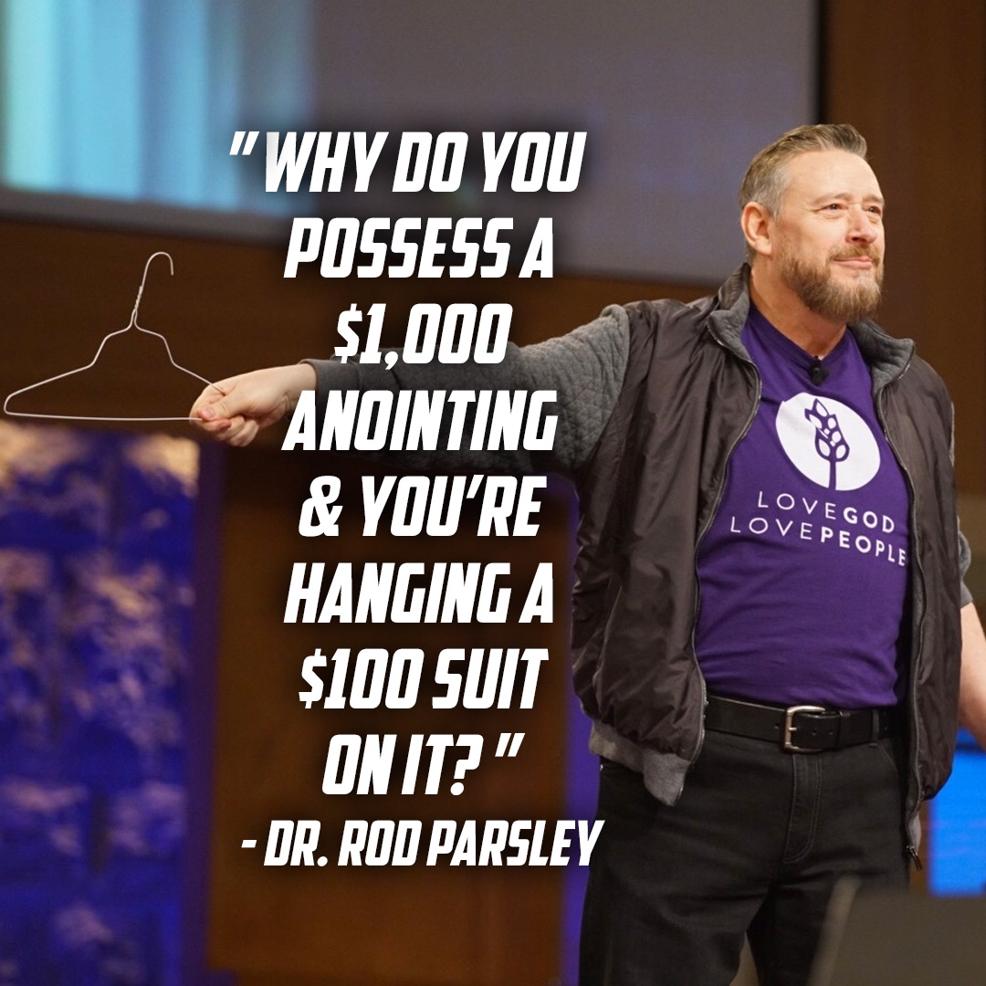 """""""He didn't call you a wire hanger & give you weak armor. He put the SAME spirit that raised Christ from the dead IN you."""" — Dr. Rod Parsley"""