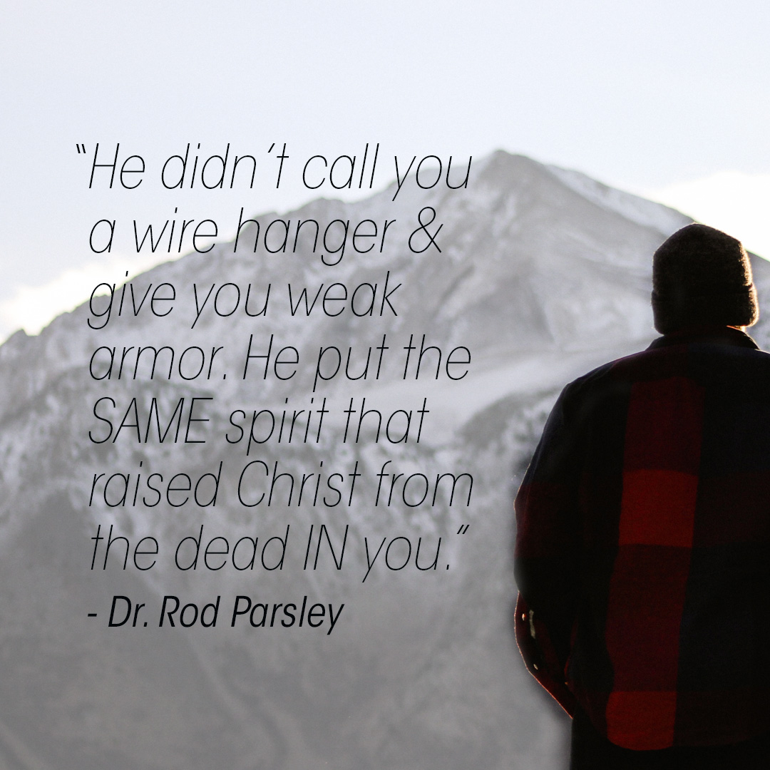 """""""Why do you possess a $1,000 anointing & you're hanging a $100 suit on it?"""" — Dr. Rod Parsley"""
