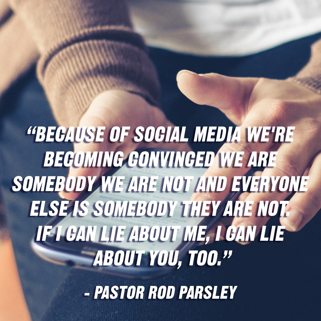 """We must reject fake news and hold on to the Good News! Jesus loves! Jesus saves! Jesus delivers! Jesus is the answer!"" – Pastor Rod Parsley"