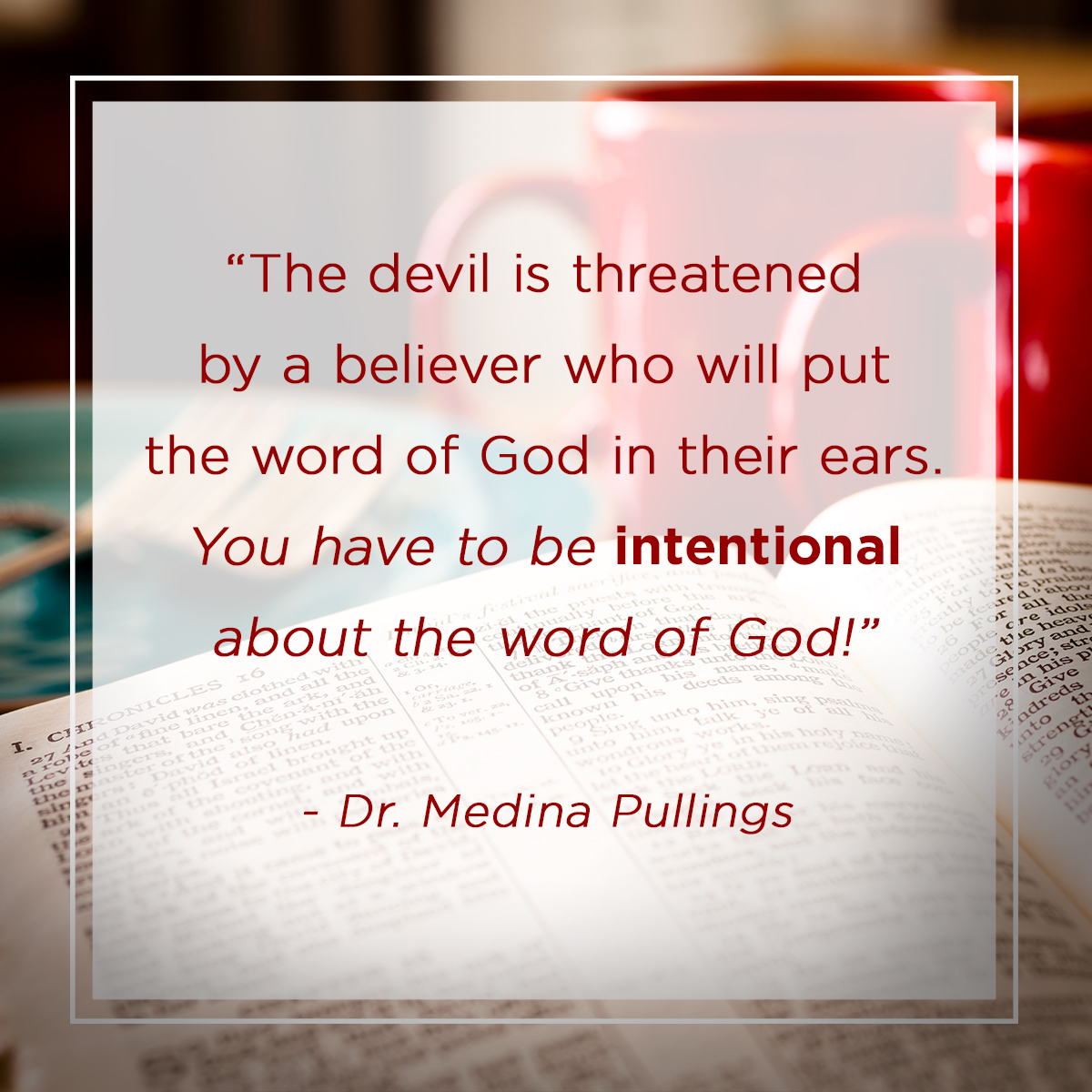 """The Book Prevails"" – Dr. Medina Pullings"